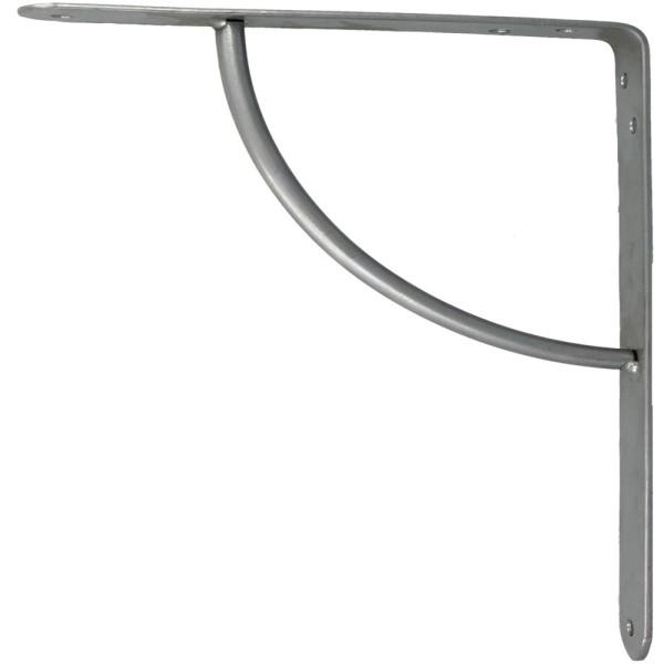 Regalkonsole Regalwinkel Silber Grau 150mm Garderobenkonsole Regalträger Regalhalter