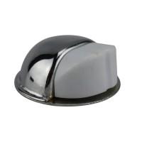 Bodentürstopper Ausführung chrom Gummi weiß Türpuffer Türstopper aus Metall