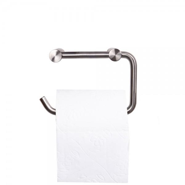 Toilettenpapierhalter Klorollenhalter Edelstahl matt gebürstet Badzubehör massiv