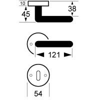 Bicolor Türdrücker Rosettengarnitur Modell Lara Türklinke Türbeschlag Türgriff