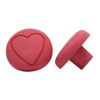 Möbelknopf Schrankknopf Schubladenknopf Kinderzimmerknopf Roas Pilz mit Herz