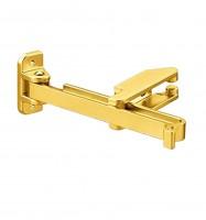 Riegel mit Sperrbügel Einbruchschutz vergoldet glänzend