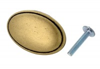 Möbelknopf Schrankknopf Möbelgriff Türgriff Knopf Antik Messing brüniert Metall