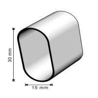 Stabile Kleiderschrankstange verchromt Kleiderstange 30mm x 15mm Garderobenstange