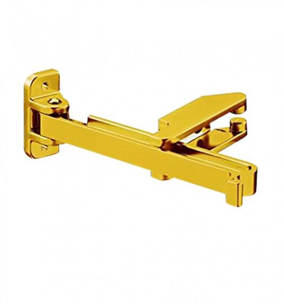 Riegel mit Sperrbügel Einbruchschutz mattgold lackiert