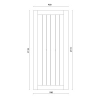 DIY Schiebetür Komplett-Set weiße Holz Landhaustür Schiebetürsystem Türbeschlag