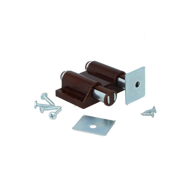 Doppelmagnetschnäpper Magnetschnapper Druckschnapper Schnapper Kunststoff Braun