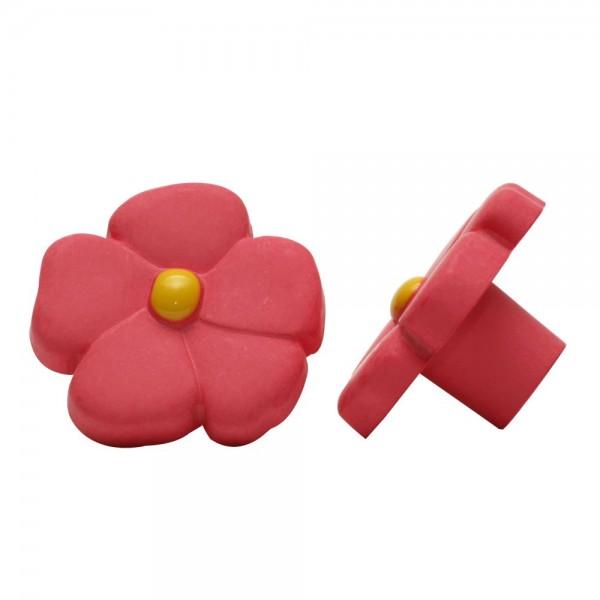 Möbelknopf Kindermöbelknopf Schrankknopf Modell Rosa Blume