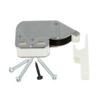 Federschnapper Mini Latch Türschnapper mit Halteplatte Druckschnapper Weiß
