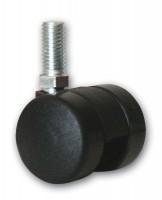 Kaminzubehör Rollen für Holzkorb 4 Stk. - schwarz, geeignet für Holzkorb Modell 414
