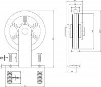 2-teiliges Laufrollen-Set Wheel Top Mattschwarz für Schiebetürsystem Wheel Top