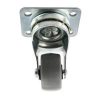 Schwerlastrolle Möbelrolle Metall Rolle Hartgummi Transportrolle mit Anschraubplatte