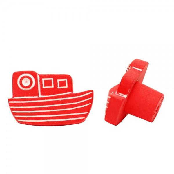 Möbelknopf Schrankknopf Kinderzimmerknopf Modell Rotes Schiff