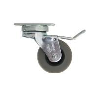Schwerlastrolle Transportrolle Möbelrolle aus Metall mit Anschraubplatte und Bremse