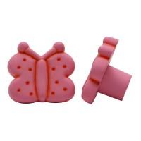 Möbelknopf Kinderzimmerknopf Schrankknopf Modell Rosa Schmetterling