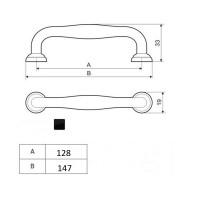 Möbelgriff Schubladengriff schwarz matt Serie UZ70 Schrankgriff Türgriff Zamak