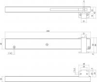 Softclose Ausführung Antik-Schließverzögerung für Schiebetüren und Schranktüren