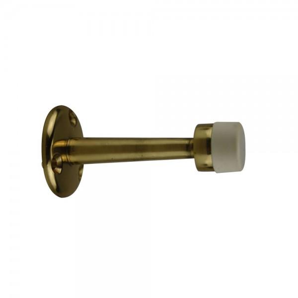 Wandtürpuffer Türstopper Ausführung Gold Wandtürstopper aus Metall Gummi Weiß
