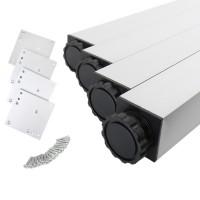 Tiscbeine 4er Set 46x46mm eckig in 2 verschidenen Höhen Tischstempel Aluminium
