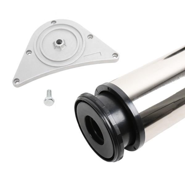 Tischbein 1100mm Höhe ø 80mm Tischfuss Stehtischbein Tischstempel aus Stahl