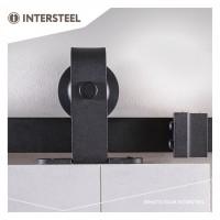 Beschlagset Basic Top Mattschwarz Laufschiene Schiebetürbeschlag Schiebetürsystem 200 cm