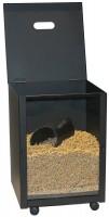 Pelletskorb, Pelletsbox eckig schwarz beschichtet Fassungsvermögen 30 kg