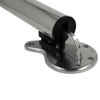 Abklappbarer Tischfuß Höhe 870mm Tischbein aus Metall ø 50mm Tischstütze kürzbar