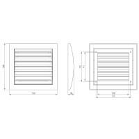 Kunststoffgitter Weiß eckiges Abluftgitter Zuluftgitter Außenwandgitter Insektenschutz