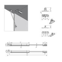 Universal Klappenstütze Gasdruckdämpfer Gasdruckfeder 50N - 150N Klappenbeschlag