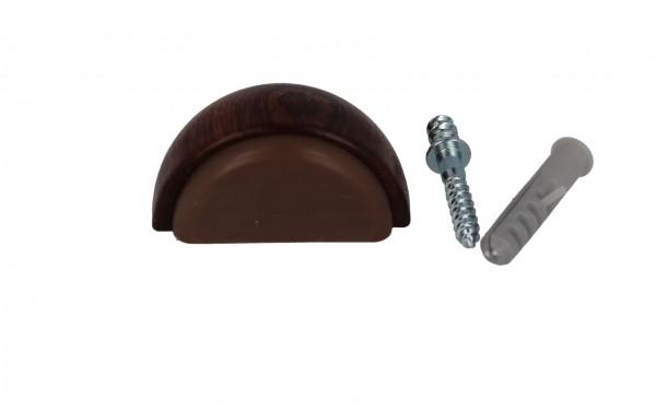 Türstopper aus Holz Ausführung Nussbaum Bodentürstopper zum kleben o. schrauben