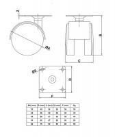 Möbelrolle mit Anschraubplatte Möbeltransportrolle Kunststoffrolle Lenkrolle