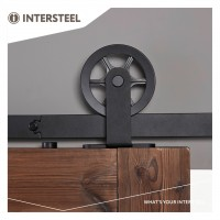 Beschlagset Wheel Top Mattschwarz Laufschiene Schiebetürbeschlag Schiebetürsystem 200 cm