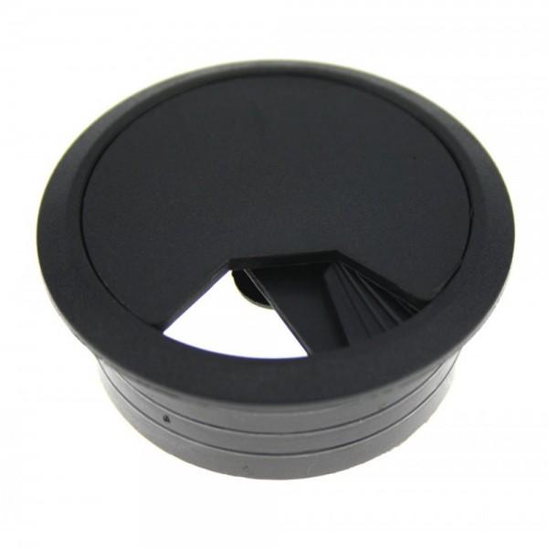Kabeldurchlaß 80 mm schwarz Kabeldurchführung Kabeldose Kabelführung Kunststoff