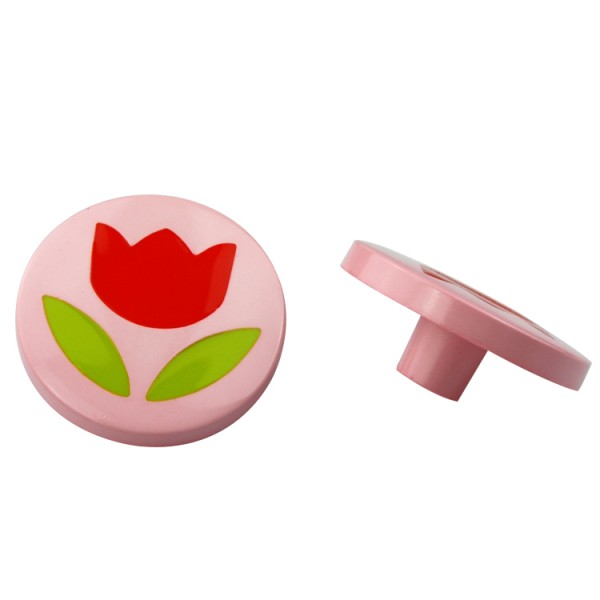 Möbelknopf Kinderzimmerknopf Schrankknopf Modell Blume im Kreis