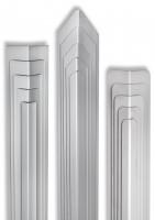 Eckschutzwinkel 40mm x 40mm x1000mm Ende gerundet Edelstahl Kantenschutz V2A