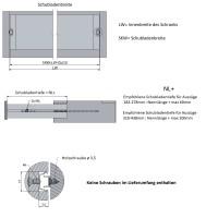 Schubladenauszug Höhe 17mm Führungsschiene Auszugsschiene 1 Paar Teilauszüge Nutmontage