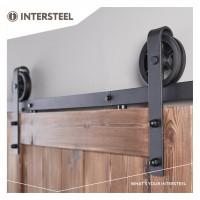 Schiebetürbeschlag Schiebetürsystem Relingsystem Türbeschlag Wheel Schwarzmatt