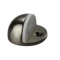 Türstopper Bodentürstopper Ausführung nickel matt Gummi weiß Türpuffer Metall