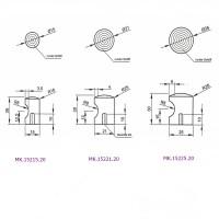 Edelstahl matt gebürsteter Möbelknopf Kommodenknopf Möbelbeschlag Griffmulde