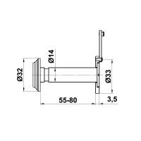 Türspion Türstärken 55-80mm Türgucker Eingangstürspion Türblick Haustürspion
