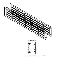Aluminium Lüftungsgitter Türlüftung Schwarz RAL9005 Türgitter 500x100mm pulverbeschichtet im Paar
