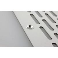 Lüftungsblech Aluminium Lochblech Silber eloxiert F1 Lüftungsgitter 60mm Breite