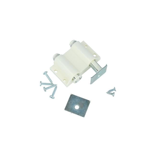 Doppelmagnetschnäpper Magnetschnapper Druckschnapper Schnapper Kunststoff Weiß