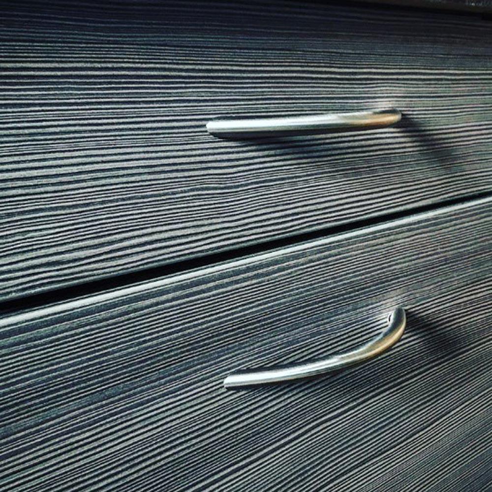 Möbelgriff Griff massiv Edelstahl matt gebürstet ø 12 mm div Lochabstände