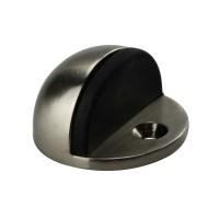 Türstopper Bodentürstopper Ausführung Nickel matt Gummi schwarz Türpuffer Metall