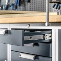 53mm hohe Schubladen-Vollauszüge Schwerlastauszug 100kg 1 Paar Schubkastenschienen