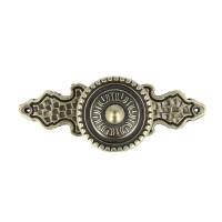 Möbelknopf Schrankknopf Knopf Möbelgriff Vintage antik Messing Optik Länge 86mm