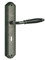 Langschildgarnitur Modell Micado Antik grau Griffstück schwarz vers. Varianten