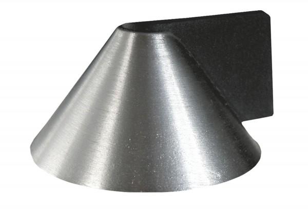 Türstopper Türpuffer Bodentürstopper zur festen Montage Metall Edelstahl Optik