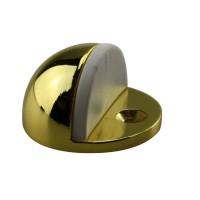 Türstopper Bodentürstopper Ausführung Gold Gummi weiß Türpuffer aus Metall